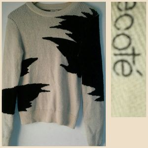 UO Graphic Sweater Ecoté sz XS Urban Outfitters